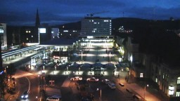 Germany, Koblenz, Central Station, Fort Constantine. Panoramic webcam online.
