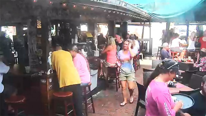 USA, Florida, Key West. Hog's Breath Saloon. Webcam online.