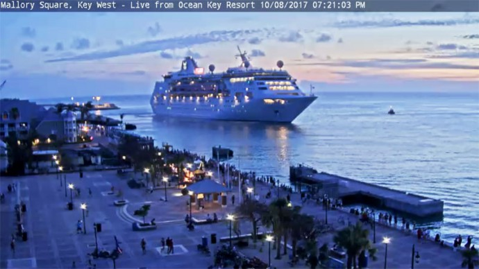 Webcam online. Mallory Square, Key West, Florida, USA.