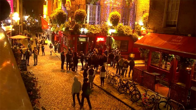 Dublin, Ireland. Webcam online.