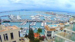 Port of Palma de Mallorca, Spain. Webcam online.