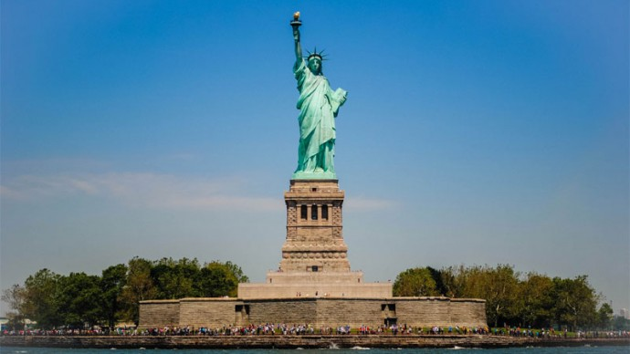 Statue of Liberty, New York, USA. Online camera. Live Stream.