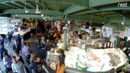 Pike Place Fish Market. Seattle, WA 98101 USA. Webcam online