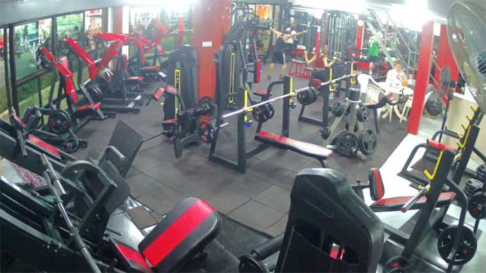 Thailand, Koh Samui, Lamai. Ultra Bodies Gym. Webcam online.