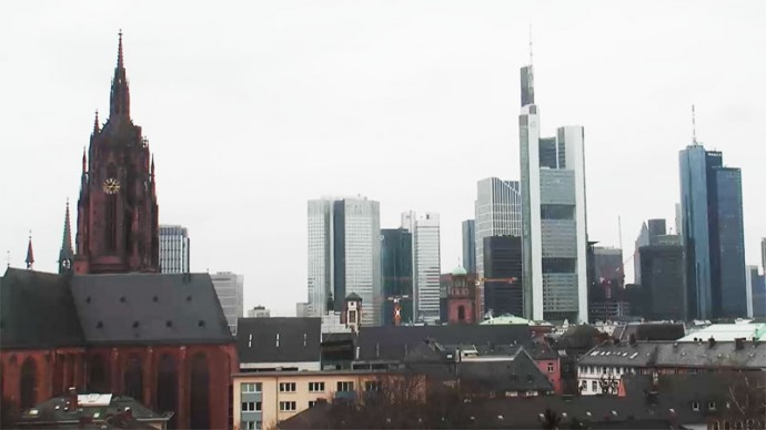 Germany, Frankfurt am Main. Panoramic webcam online.