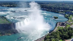 Niagara Falls. Between New York, USA and Ontario, Canada. Online webcam.