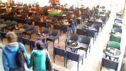 """Café de Paris"" Flower Square (Cvjetni Trg), Zagreb, Croatia. Webcam online."