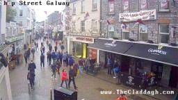 Shop Street, Galway, Ireland Live Webcam.