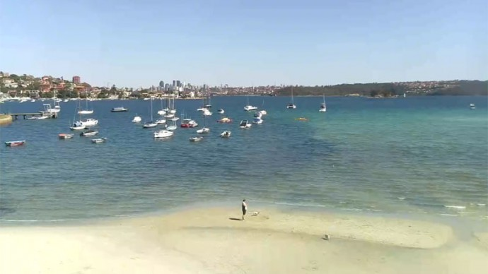 Rose Bay, Sydney, Australia. Webcam online.